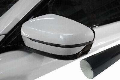 Design Folie Schwarz Glanz viele Fahrzeuge PREMIUM Spiegel Spiegelgehäuse Kappe