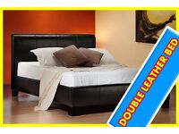 NOW SALE DOUBLE LEATHER BED free mattress fast delivery