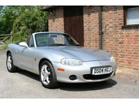 2004 MAZDA MX5 1.8. ONLY 44000 MILES. ONE OWNER SINCE 2005. SILVER. AIR CON