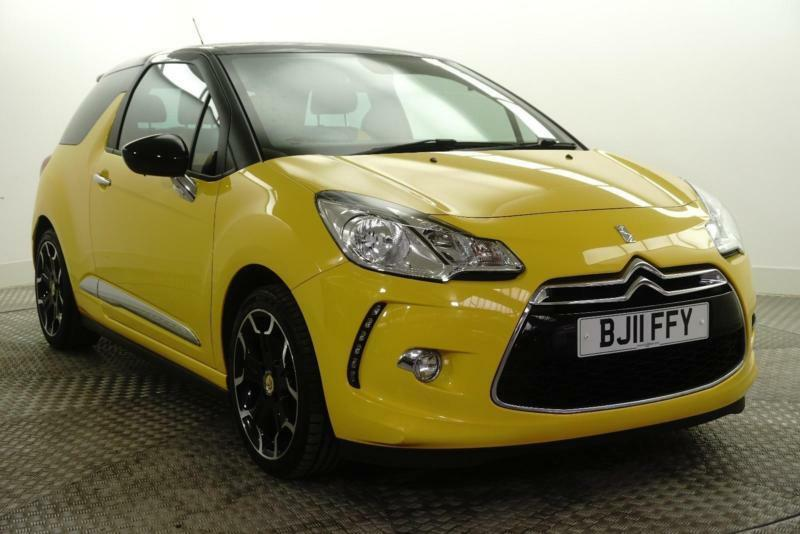 2011 Citroen DS3 DSPORT Petrol yellow Manual