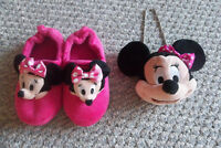 Disney Minnie Mouse Slippers & Purse