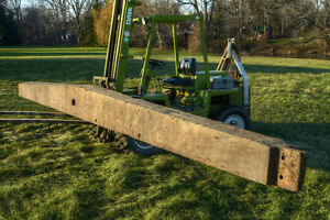 Antique Tapered Hand-Hewn Barn Beam .. -- 30.5 ft -- London Ontario image 7