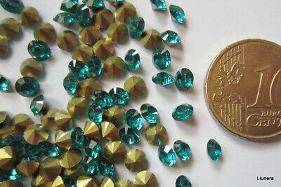Cristal facetado diamante 4 mm verde botella X 60 UNIDADES acrílico para...