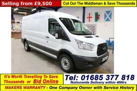 2015 - 15 - FORD TRANSIT T350 L3H2 2.2TDCI 125PS RWD LWB SEMI HI TOP VAN