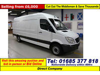 2008 - 58 - MERCEDES SPRINTER 311 2.2CDI LEFT HAND DRIVE LWB VAN (GUIDE PRICE)