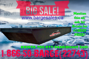 BARGE SALE CANADIAN BUILT/INTERNATIONALLY SHIPPED!