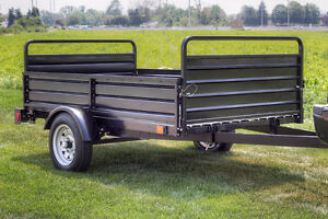 Mighty Multi Utility Tilt Trailer w/ Fold Down Gates