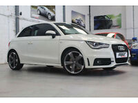 Audi A1 1.4TFSi Black Edition S-Tronic, 12 Reg, 48k, Amalfi White, FSH.