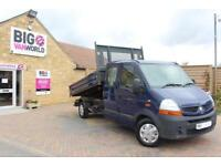 2008 RENAULT MASTER LL35 DCI 120 LWB DOUBLE CAB ALLOY TIPPER TIPPER DIESEL