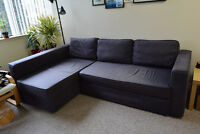 Corner Sofa Bed Couch with Storage