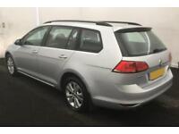 2015 SILVER VW GOLF 1.4 TSI 122 SE DSG PETROL 5DR ESTATE CAR FINANCE FR £33 PW