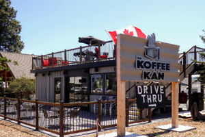 REDUCED PRICE - Unique Shipping Container Drive Thru Coffee Shop