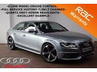 2009 Audi A4 TDI S LINE 143BHP- AUTO-ONLY 73K-FULL HISTORY-HEATED SEATS-