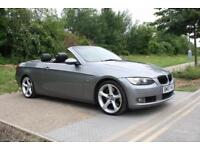 BMW 335i 3.0 AUTOMATIC 2007 CONVERTIBLE GREY LEATHER HARD-TOP SAT NAV