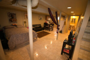 Private Furnished Bach Apt  5 min walk 2 University All Included