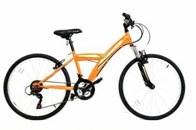 "Galaxy Energy Mountain Bike Boys Junior Hardtail 18 Speed 24"" Wheel - Orange"