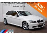 2010 BMW 318 2.0TD M Sport Business Edition-FULL RED LEATHER-SAT NAV-B/TOOTH-