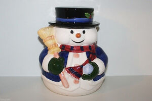 Brand New in Box! Snowman Cookie Jar