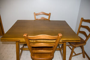 Maple table & chairs