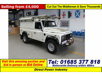 2007 LAND ROVER DEFENDER 110 2.4TDCI 4X4 HARD TOP C/W FRONT WINCH (GUIDE PRICE)
