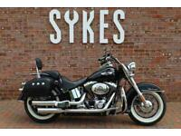 2005 Harley-Davidson FLSTN Softail Deluxe in Vivid Black