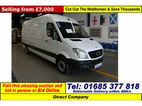 2010 - 10 - MERCEDES SPRINTER 313 2.2CDI LEFT HAND DRIVE LWB HIGH TOP VAN