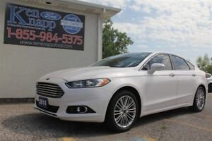 2014 Ford Fusion SE, LEATHER, NAV, BACKUP CAM, HEATED SEATS, 18'