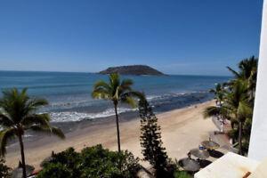 Oceanfront, Sandy Beach, Mazatlan,Mexico