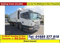 2008 - 58 - SCANIA P270 6X2 26TON GEESINK REFUSE (GUIDE PRICE)