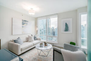 Gorgeous 1 BED DEN INDOOR BALCONY at DOWNTOWN VANCOUVER