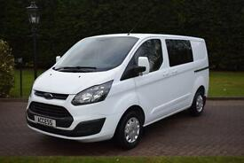 Ford Transit Custom 2.2TDCi 6 seat Double Cab-in-Van 290 L2H1