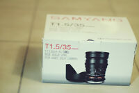 SAMYANG 35mm T1.5 Wide Angle Cine Lens (For Canon)