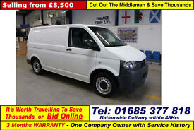 2012 - 62 - VOLKSWAGEN TRANSPORTER T28 2.0TDI 84PS SWB VAN (GUIDE PRICE)