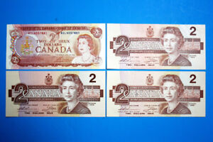 Four Old Canadian Banknotes #3