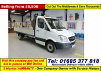 2010 - 60 - MERCEDES SPRINTER 313 2.2CDI LWB SINGLE CAB DROPSIDE (GUIDE PRICE)