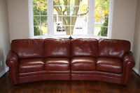 Couch / Connected Angled Loveseats - best leather - over 55% off
