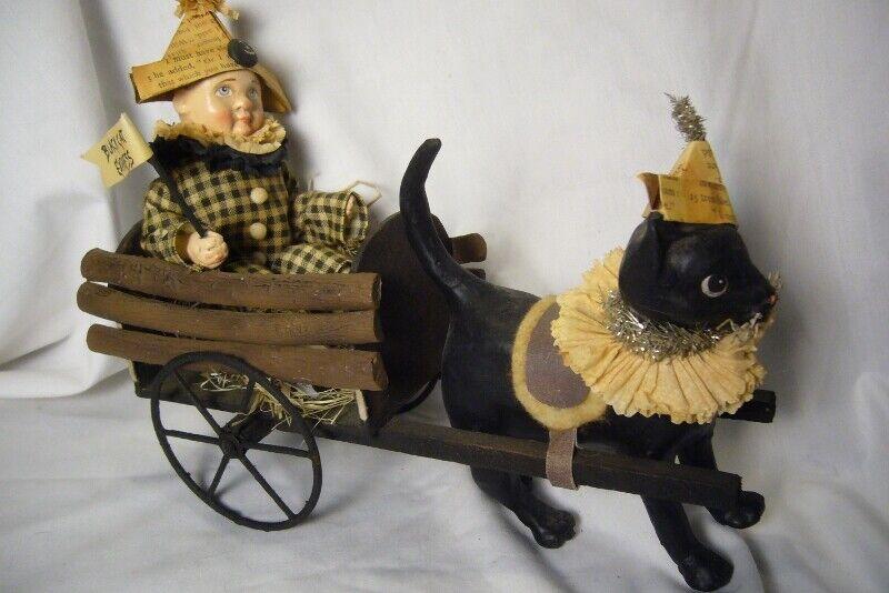 Bethany Lowe Halloween Black Cat Express