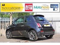 2014 Fiat 500 1.2 Sport 3dr Petrol black Manual