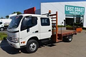 HINO DUTRO 300 ** DUAL CAB ** TRAYTOP ** #4890 Archerfield Brisbane South West Preview