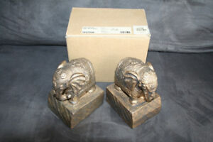 Bombay Elephant Book Ends - In Box