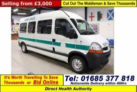 2010 - 60 - RENAULT MASTER LM35 2.5DCI 100PS 5 SEAT DISABLED ACCESS PTS MINIBUS