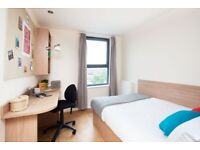 STUDENT ROOMS TO RENT IN GLASGOW WITH SMALL DOUBLE BED, PRIVATE BATHROOM, PRIVATE ROOM