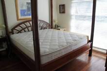 4 POST BED FRAME, INDONESIAN, SUPER-KING SIZE Greenslopes Brisbane South West Preview