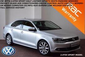 2013 Volkswagen Jetta 2.0TDI(140ps) Sport-LOW MILES-FULL SERVICE HISTORY-B.TOOTH