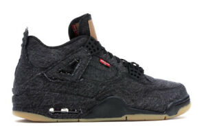 Air Jordan 4 Retro Levi Black Size 10.5