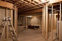 $2500 for most framed basements including materials