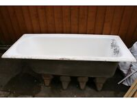 Victorian Cast Iron Bath (with legs and taps)