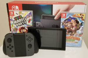Nintendo Switch with Mario Party & Donkey Kong Country