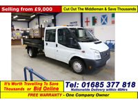 2014 - 14 - FORD TRANSIT T350 2.2TDCI 100PS RWD CREW CAB TIPPER (GUIDE PRICE)