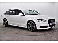 2014 Audi A6 AVANT TDI S LINE BLACK EDITION Diesel white Manual
